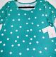 Lularoe JESSIE DRESS NWT SMALL teal green white polka dot