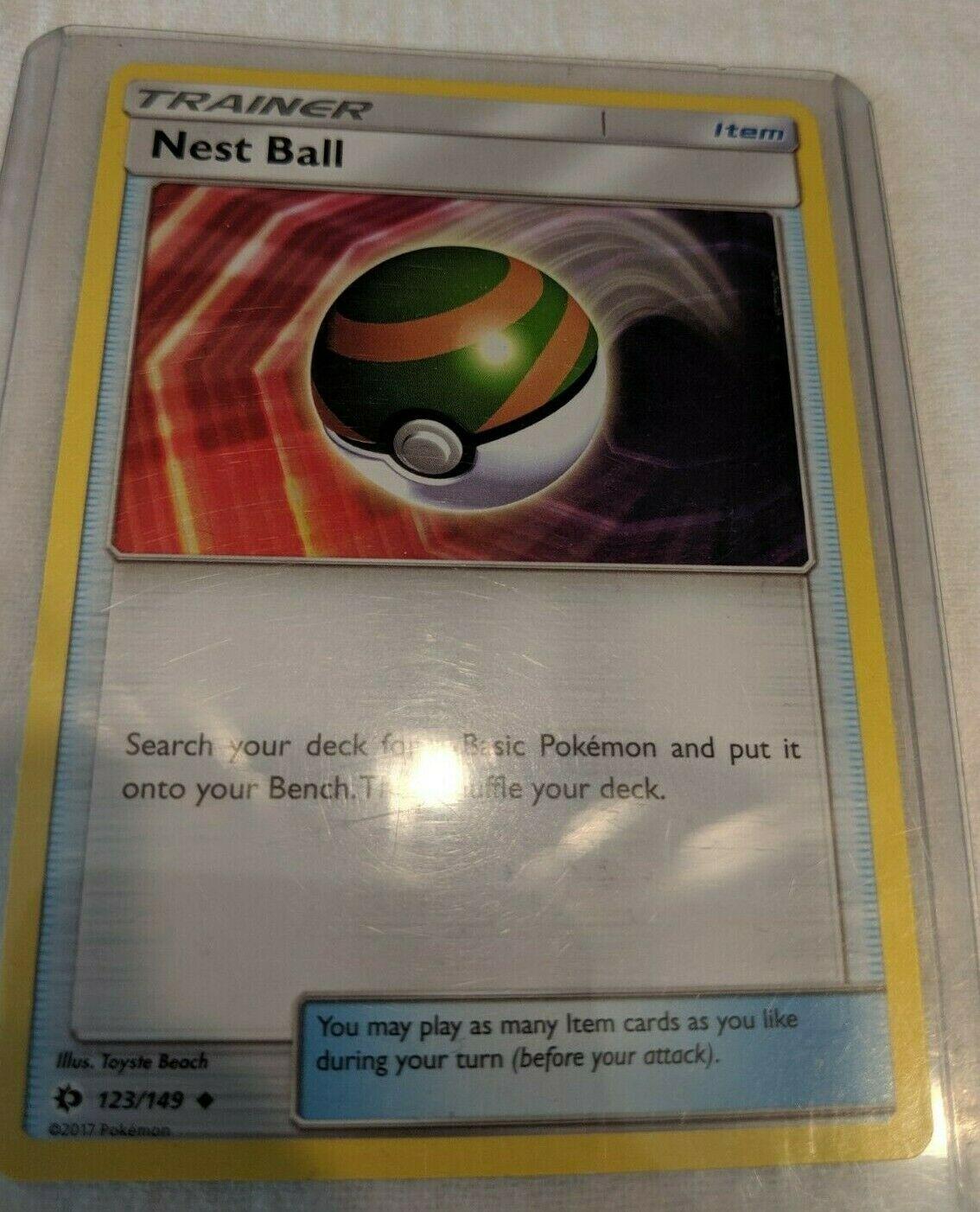 Reverse Foil Pokemon Nest Ball 123//149 Uncommon Near Mint - Sun /& Moon