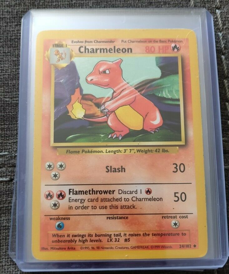 Pokemon Base set common Charmander 46/102 Near Mint condition Verzamelingen kaartspellen